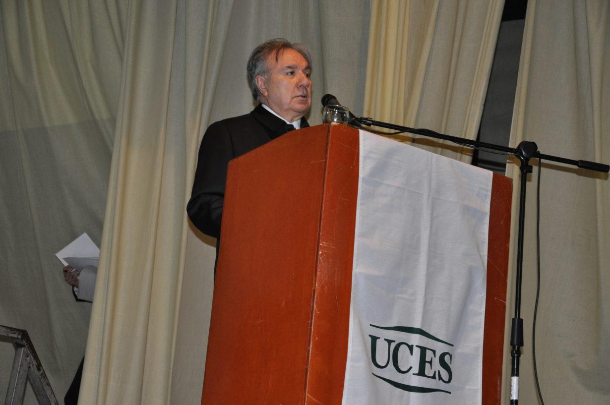 El Decano de la FRTDF de la UTN, Ingeniero Mario Ferreyra.