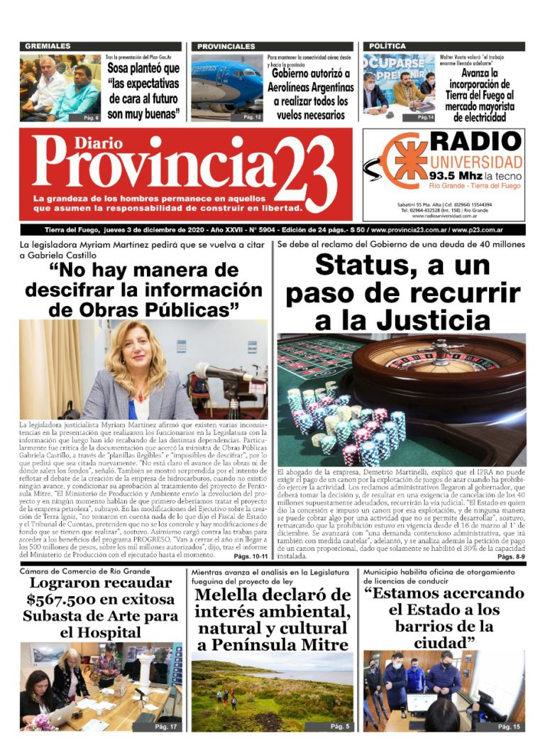 Diario – 03/12/ 2020 – N° 5903